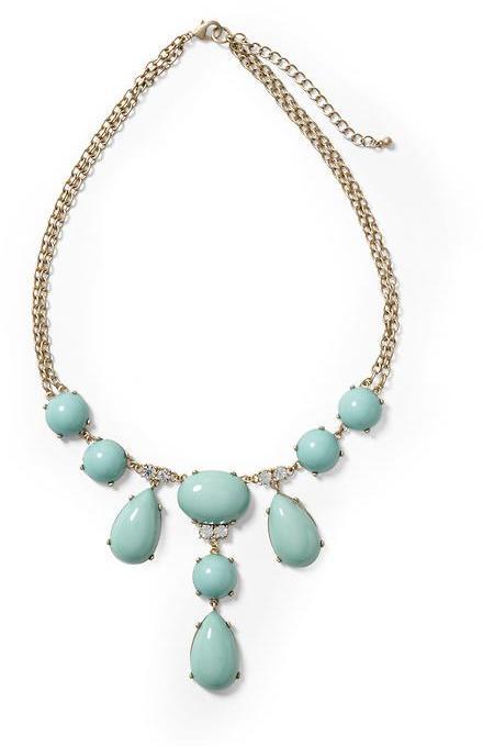 Pim + Larkin Turquoise Cabochon Statement Necklace