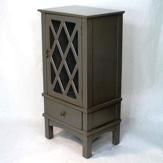 Heather Ann Wooden Accent Cabinet with Glass Insert