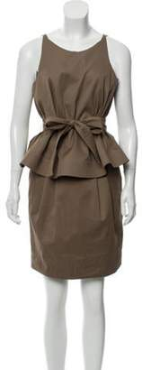 Chloé Sleeveless Peplum Dress Chloé Sleeveless Peplum Dress
