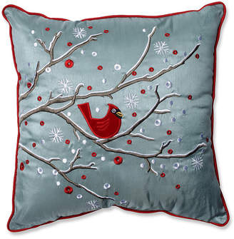 "Pillow Perfect Holiday Cardinal on Snowy Branch 16.5"" Throw Pillow"
