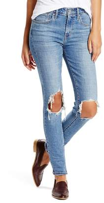Levi's 721 Ripped High Waist Skinny Jeans