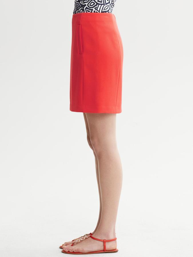 Banana Republic Stretch Piqué Skirt