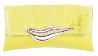 Diane von Furstenberg Leather Flap Clutch