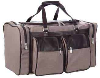 Piel Leather 20in DUFFEL BAG WITH POCKETS