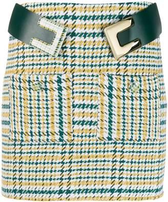 Elisabetta Franchi checkered mini skirt