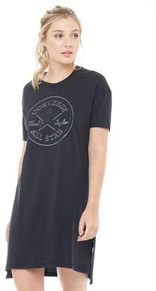 Converse Womens Varsity Overlapped Chuck Patch T-Shirt Dress Black