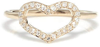 Jordan Askill Diamond Pavé Heart Ring