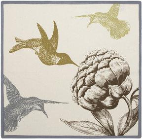 Simrin Hummingbird Taupe Napkins