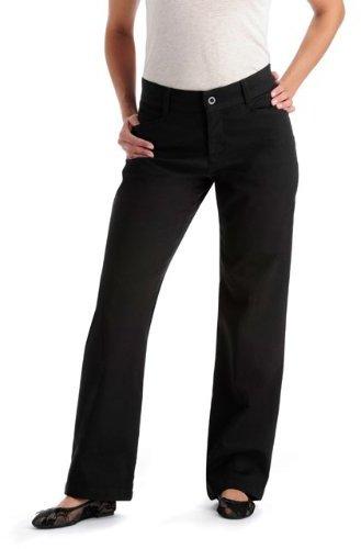 Lee Women's Petite Relaxed Fit Plain Front Pant