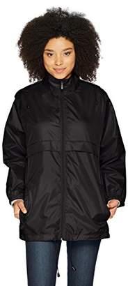 totes Women's Zip-Front Packable Travel Anorak Rain Jacket