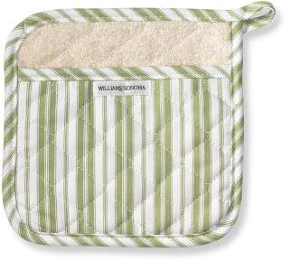 Williams-Sonoma Williams Sonoma Stripe Potholder, Sage Green