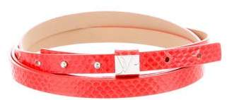 Diane von Furstenberg Embossed Wrap-Around Belt