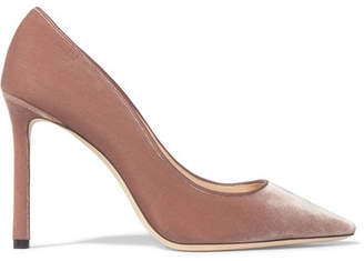 Jimmy Choo - Romy Velvet Pumps - Antique rose $625 thestylecure.com