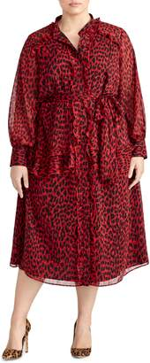 Rachel Roy Collection Leopard Ruffle Dress