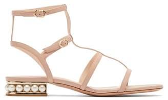 Nicholas Kirkwood Casati Pearl Heeled Leather Sandals - Womens - Nude
