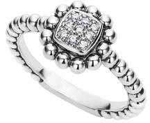 Lagos Sterling Silver Caviar Spark Ring with Diamonds, 0.08 tdcw, Size 7
