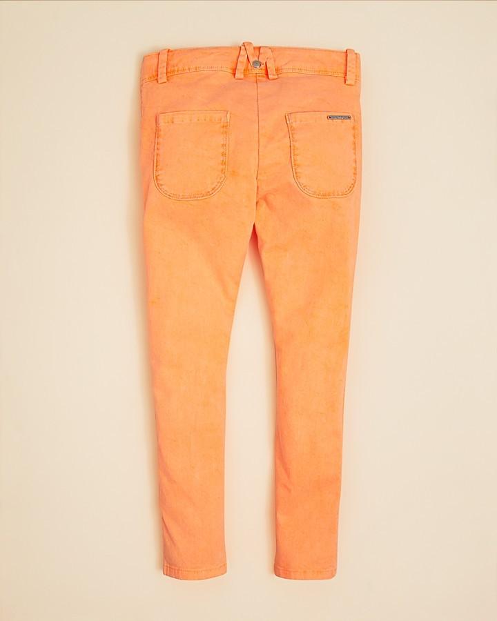 Little Marc Jacobs Girls' Stretch Satin Slim Fit Pants - Sizes 6-14