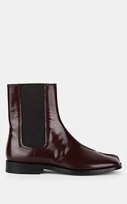 Maison Margiela Women's Tabi Patent Leather Chelsea Boots - Wine