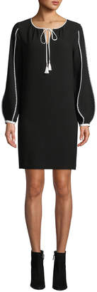 Elie Tahari Attina Contrast-Trim Shift Dress