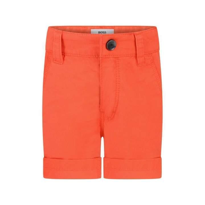 BOSS KidsBaby Boys Orange Cotton Shorts