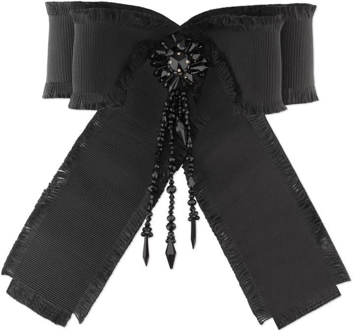 GucciGrosgrain bow brooch