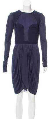 J. Mendel Long Sleeve Knee-Length Dress