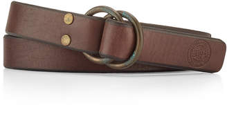 Polo Ralph Lauren Men's Distressed-Leather O-Ring Belt $98 thestylecure.com