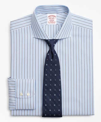 Brooks Brothers Stretch Madison Classic-Fit Dress Shirt, Non-Iron Royal Oxford Stripe
