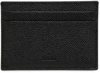 Bally Pebbled Leather Credit Card Holder