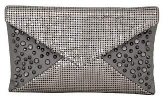 Whiting & Davis Crystal Embellished Envelope Clutch