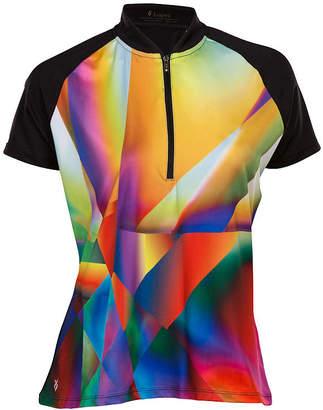 Asstd National Brand Nancy Lopez Golf Prism Short Sleeve Plus Polo