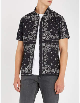 The Kooples Skull and paisley-pattern oversized cotton shirt