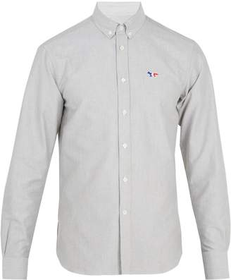 MAISON KITSUNÉ Logo-embroidered cotton shirt
