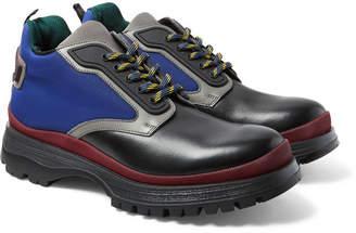 Prada Leather And Nylon Boots
