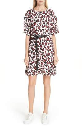 Kenzo Animal Print Belted Dress