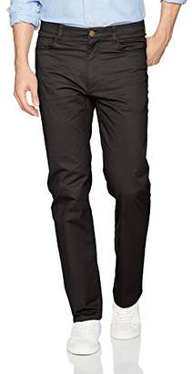 Savane Men's Flat-Front Active Flex 5-Pocket Casual Pant