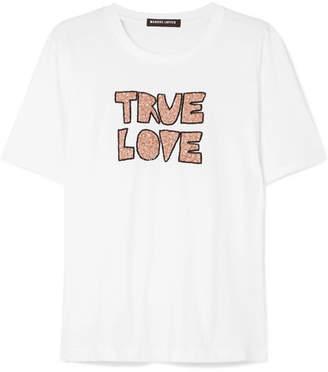 Markus Lupfer Alex Sequined Cotton-jersey T-shirt - White
