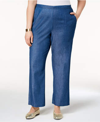 Alfred Dunner Plus Size Sun City Pull-On Denim Pants