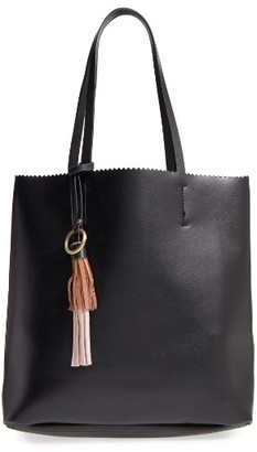 Shiraleah Tate Tassel Faux Leather Tote - Black $62 thestylecure.com