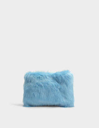 Charlotte Simone Candy Clutch Bag in Pastel Blue and Blue Acrylic