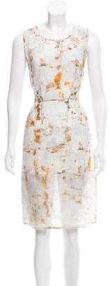 AllSaints Silk Printed Dress