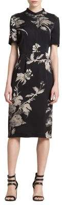 DKNY Printed Knee-Length Dress