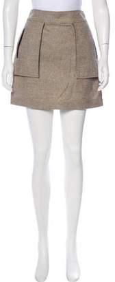 Billy Reid Plaid Wool Skirt