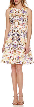 Ronni Nicole Sleeveless Floral Fit & Flare Dress