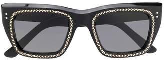 Celine crystal embellished square sunglasses