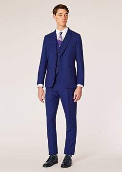 The Soho - Men's Tailored-Fit Indigo Three-Piece 'A Suit To Travel In'