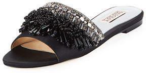 Badgley Mischka Kassandra Embellished Flat Slide Sandal