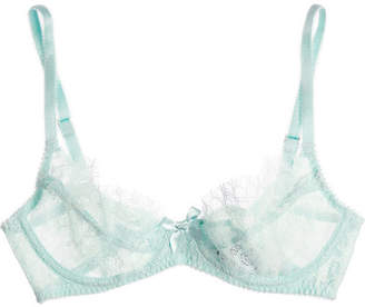 L'Agent by Agent Provocateur Idalia Lace And Tulle Underwired Bra - Mint