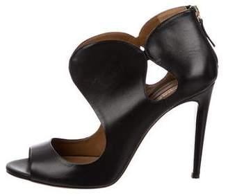 Aquazzura Cutout Leather Sandals