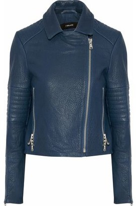 J Brand Aiah Textured-Leather Biker Jacket